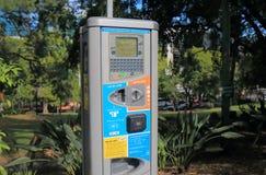 Car parking meter machine Brisbane Australia Royalty Free Stock Images