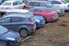 Car parking in Moscow Royalty Free Stock Image