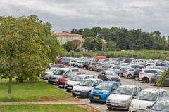 Car parking in Porec, Crioatia. Royalty Free Stock Photo