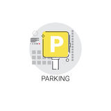 Car Parking Public Sign Icon Stock Photos