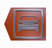 Car parking red arrow sign isolated 3d model Stock Image