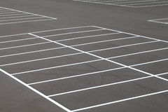 Car parking. Road marking on the asphalted parking place Royalty Free Stock Photo