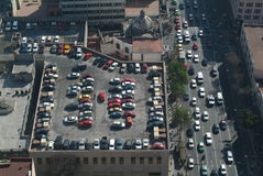 Car parking on the roof of a building at Mexico Ci. Ty, Mexico Royalty Free Stock Images