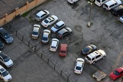 Car parking Royalty Free Stock Photo