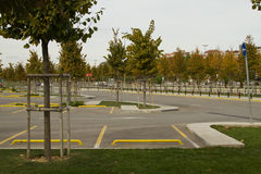 Car parking in ther park with Royalty Free Stock Image