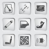 Car Part And Service Icons Set 3. Royalty Free Stock Photos