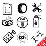 Car part icon set 11 Royalty Free Stock Photo