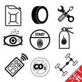 Car part icon set 11. Vector Illustration EPS8 Royalty Free Stock Photo