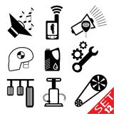 Car part icon set 12 Stock Photo