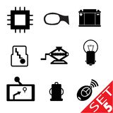 Car part icon set 5 Royalty Free Stock Photos