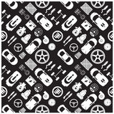 Car part icons and Background Royalty Free Stock Image