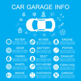 Car part information vector illustration