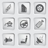 Car part and service icons set 5. Stock Images