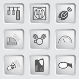 Car part and service icons set 6. Stock Photography