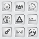 Car part and service icons set 7. Stock Images