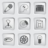 Car part and service icons set 2. Royalty Free Stock Photography
