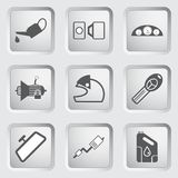 Car part and service icons set 4. Royalty Free Stock Photos