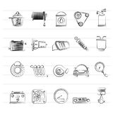 Car part and services icons 2. Icon set Stock Photography