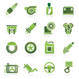 Car part and services icons Stock Photos