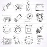 Car part and services icons Stock Photography