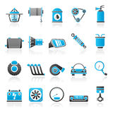 Car part and services icons 2. Vector icon set Royalty Free Stock Photo