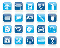 Car part and services icons 2. Vector icon set Stock Image