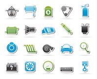 Car part and services icons 2. Vector icon set Royalty Free Stock Images
