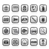 Car part and services icons 2. Vector icon set Stock Photo