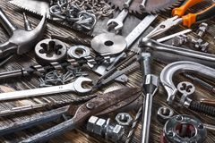 Set of Car parts on background. Car parts background object element shop royalty free stock photography