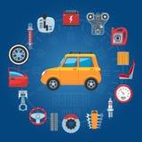 Car Parts Concept Icons Stock Photos