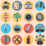 Car parts and icons Royalty Free Stock Photography