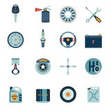 Car parts icons flat Royalty Free Stock Image