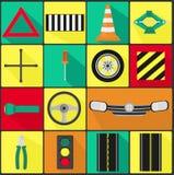Car Parts - Icons Royalty Free Stock Photos