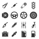 Car parts icons Royalty Free Stock Photos