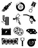 Car parts icons set royalty free stock photography
