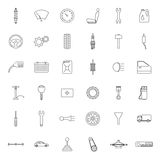 Car parts. Icons set. Royalty Free Stock Photography