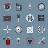 Car parts icons Royalty Free Stock Photo
