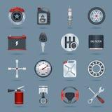 Car parts icons Royalty Free Stock Photo