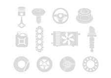 Car parts illustration Royalty Free Stock Images