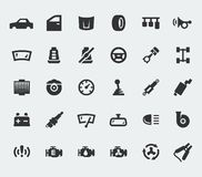 Car parts large icons Stock Image