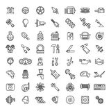 Car parts line icons set Royalty Free Stock Image