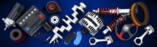 Car parts vector illustration