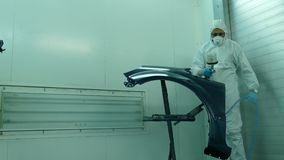 Car parts painting stock footage
