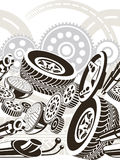 Car parts seamless pattern vector illustration