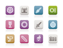 Car Parts and Services icons. Vector Icon Set 5 Royalty Free Stock Photo