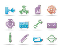 Car Parts and Services icons Stock Photography