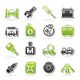 Car parts and services icons. Vector icon set 1 Royalty Free Stock Photography