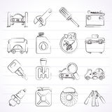 Car parts and services icons. Vector icon set 1 Royalty Free Stock Photo
