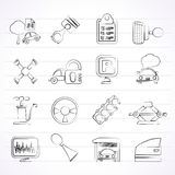 Car parts and services icons Royalty Free Stock Image