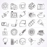 Car parts and services icons Stock Images